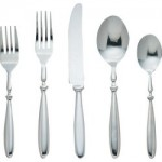 Nikita Bistro; 20pc Forged 18/8 SS Flatware Set 1