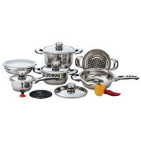 Chef's Secret® 12pc 9-Ply Heavy-Gauge Stainless Steel Cookware Set
