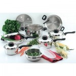 Chef's Secret® 15pc 12-Element T304 Stainless Steel Waterless Cookware