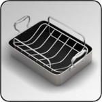 CHEFSDESIGN® Model #1214 14 Inch Aluminum French Roaster