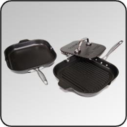 Griddle, Grill Pan, Grill Press Set