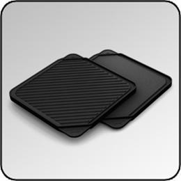 CHEF'SDESIGN® Model #3550 Single Burner Reversible Grill/Griddle