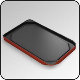 CHEF'SDESIGN® Model #6275 Double Burner Griddle - Sunrise Red