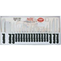 Diamond Cut® 19pc Cutlery Set in White/Red Bow Box