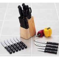 Diamond Cut® 24pc Cutlery Set in Wood Block