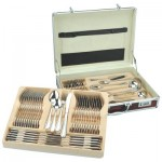Sterlingcraft® High-Quality, Heavy-Gauge Stainless Steel 72pc Flatware and Hostess Set