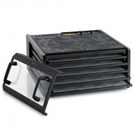 5 Tray With Timer-Black, Clear Door