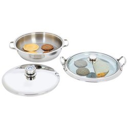 Chef's Secret® by Maxam® Heavy-Gauge Stainless Steel 4pc Griddle Set