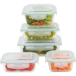 LaCuisine™ 10pc Locking, Glass Storage Container Set