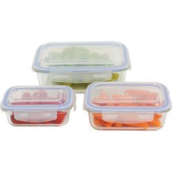 LaCuisine™ 6pc Locking, Glass Storage Container Set