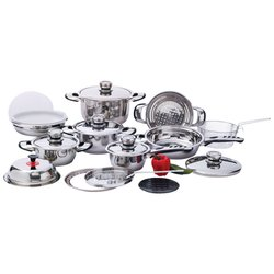 Chef's Secret® 22pc 12-Element, High-Quality, Heavy-Duty Stainless Steel Cookware Set