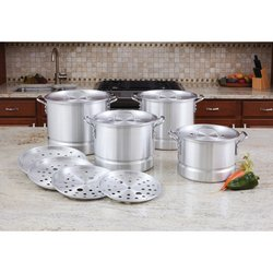 LaCusine™ 12pc Aluminum Steamer Stockpot Set