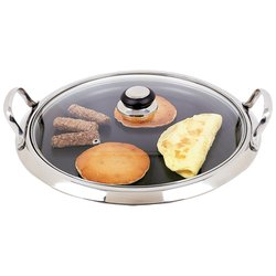 Chef's Secret® by Maxam® 12-Element Stainless Steel Round Griddle