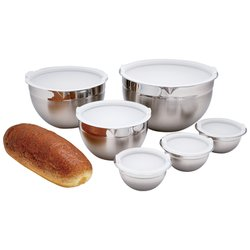 Chef's Secret® 12pc T304 Stainless Steel Mixing Bowl Set