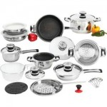 Everclad™ 26pc 12-Element, Heavy-Gauge Non-Stick Stainless Steel Cookware Set