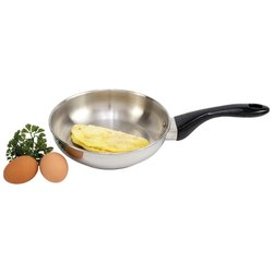 """Precise Heat™ 8-1/4"""" 12-Element T304 Stainless Steel Omelet Pan"""
