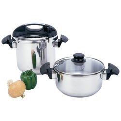 Precise Heat™ 4pc T304 Stainless Steel Pressure Cooker Set