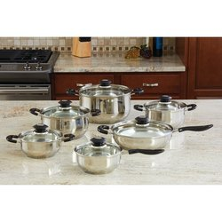 Wyndham House™ by Justin Wilson™ 12pc Stainless Steel Cookware Set