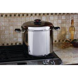 Precise Heat™ 24qt 12-Element ''Waterless'' Stockpot with Deep Steamer Basket